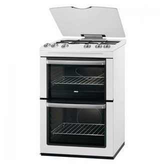 Zanussi ZCG66AGW 60cm Twin Cavity Gas Cooker in White