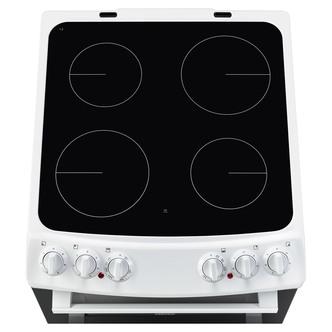 Zanussi ZCV46050WA 55cm Electric Cooker in White Double Oven Ceramic H