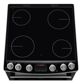 Zanussi ZCV66078XA 60cm Electric Cooker in St Steel D Oven Ceramic Hob