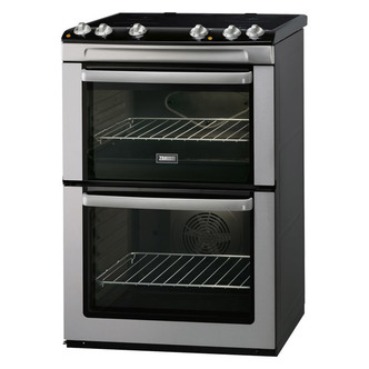 Zanussi ZCV668MX 60cm Electric Cooker in St Steel D Oven Ceramic Hob