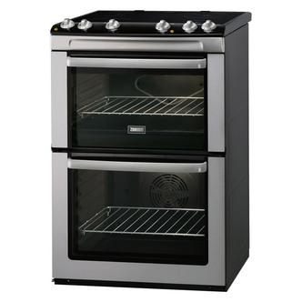 Zanussi ZCV668MX 60cm Electric Cooker in St Steel D Oven Ceramic Hob