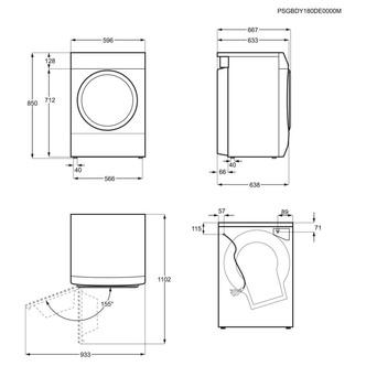 Zanussi ZDC8203WZ LINDO300 Condenser Tumble Dryer in White 8kg B Rated