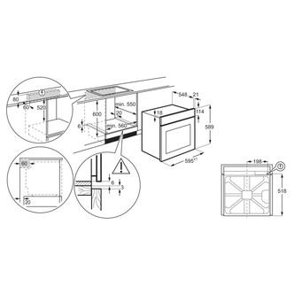 Zanussi ZOHNX3X1 60cm Built In Single Electric Oven in St St 72L A Rat