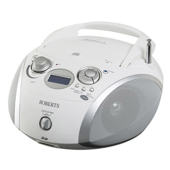 Roberts ZOOMBOX 3 Portable DAB Radio with CD Player SD USB in Silver