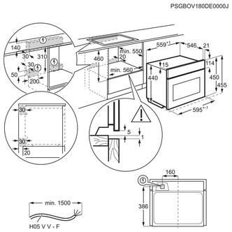 Zanussi ZVENM7X1 Built In Compact Oven Microwave in St Steel 43L