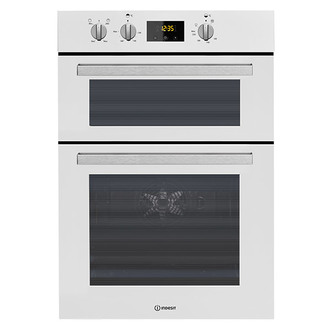 Indesit IDD6340WH 60cm Built In Electric Double Oven in White A A Rate