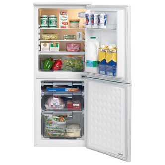 Lec T5039S Freestanding Fridge Freezer, Adjustable Thermostat, 93L Fridge Capacity, 46L Freezer Capacity, 50cm wide, Silver