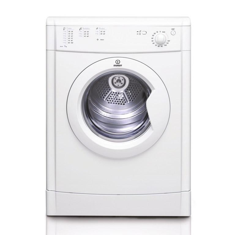 indesit idv75 7kg vented tumble dryer in white reverse action. Black Bedroom Furniture Sets. Home Design Ideas