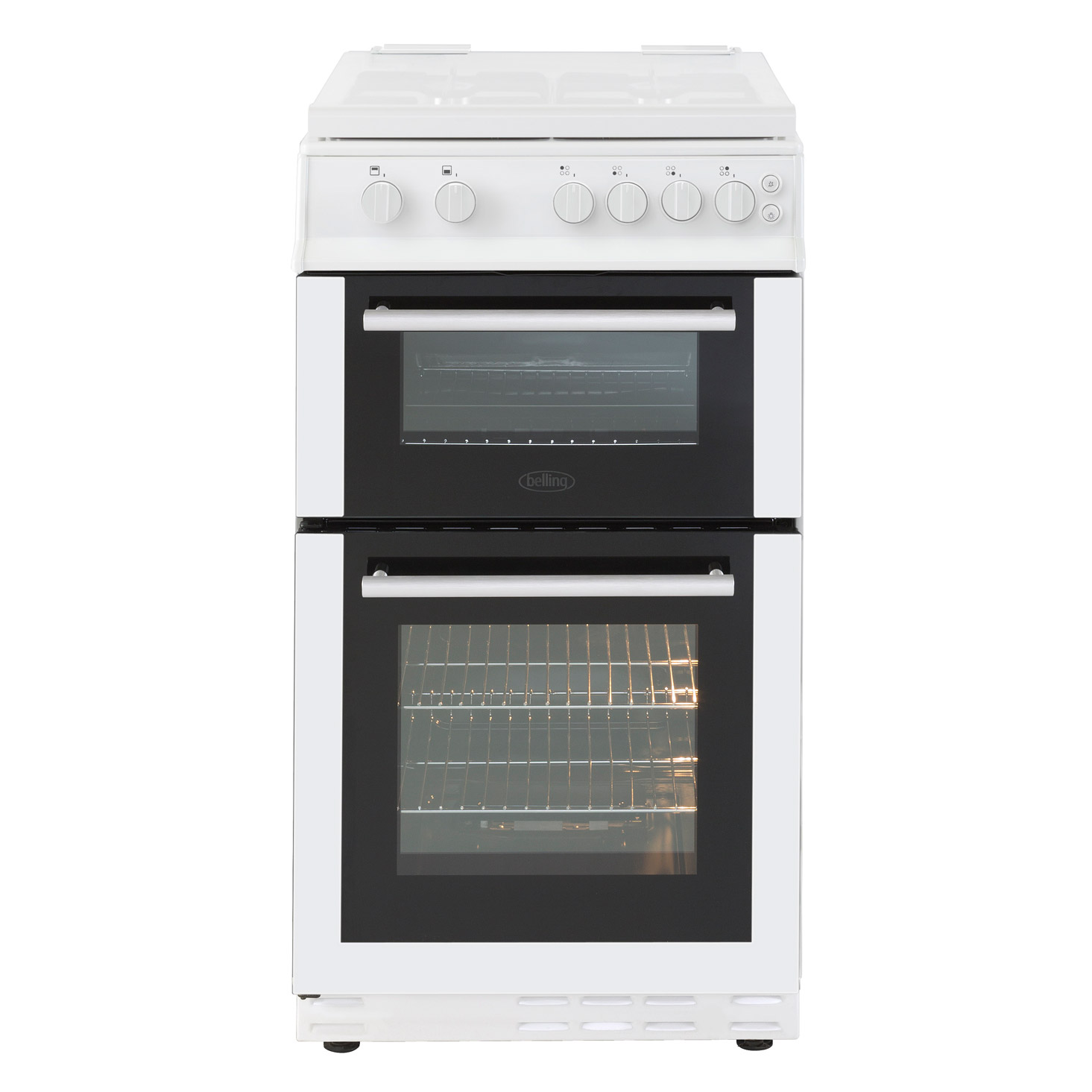 Belling 444444001 50cm Gas Cooker In White Double Oven