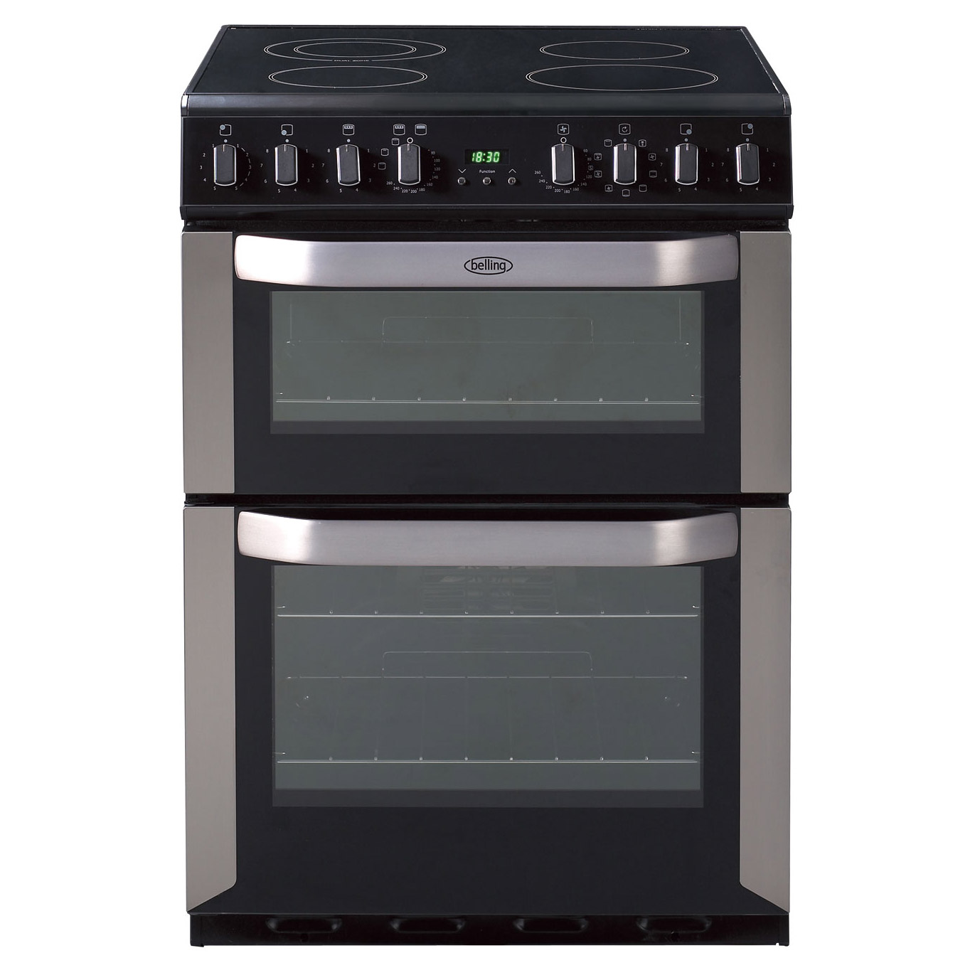 belling 444449575 60cm electric cooker in st st double oven ceramic hob rh sonicdirect co uk Belling Oven Parts belling oven installation manual
