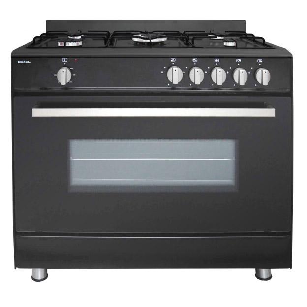 Range Cooker bexel bg90mb 90cm gas single oven range cooker in black