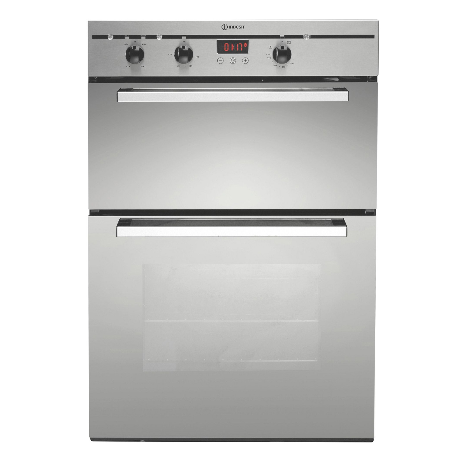 Indesit BIMDS23BIXS Built In Electric Double Oven in Stainless Steel