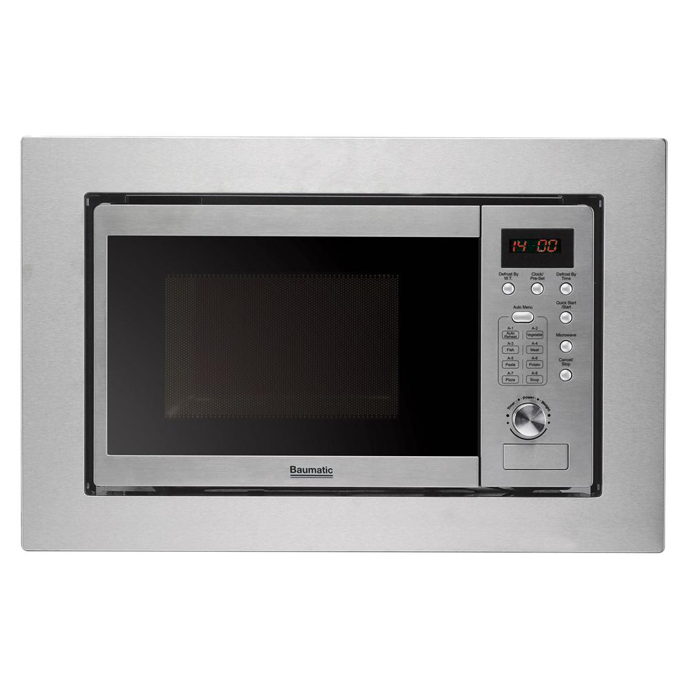 Baumatic bmm204ss built in compact microwave in st steel 20l for Small built in microwave oven