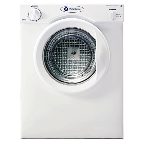 white knight c37aw 3kg compact tumble dryer in white vented. Black Bedroom Furniture Sets. Home Design Ideas