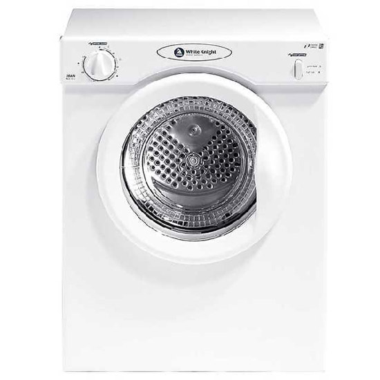 white knight c38aw 3kg compact vented tumble dryer in. Black Bedroom Furniture Sets. Home Design Ideas