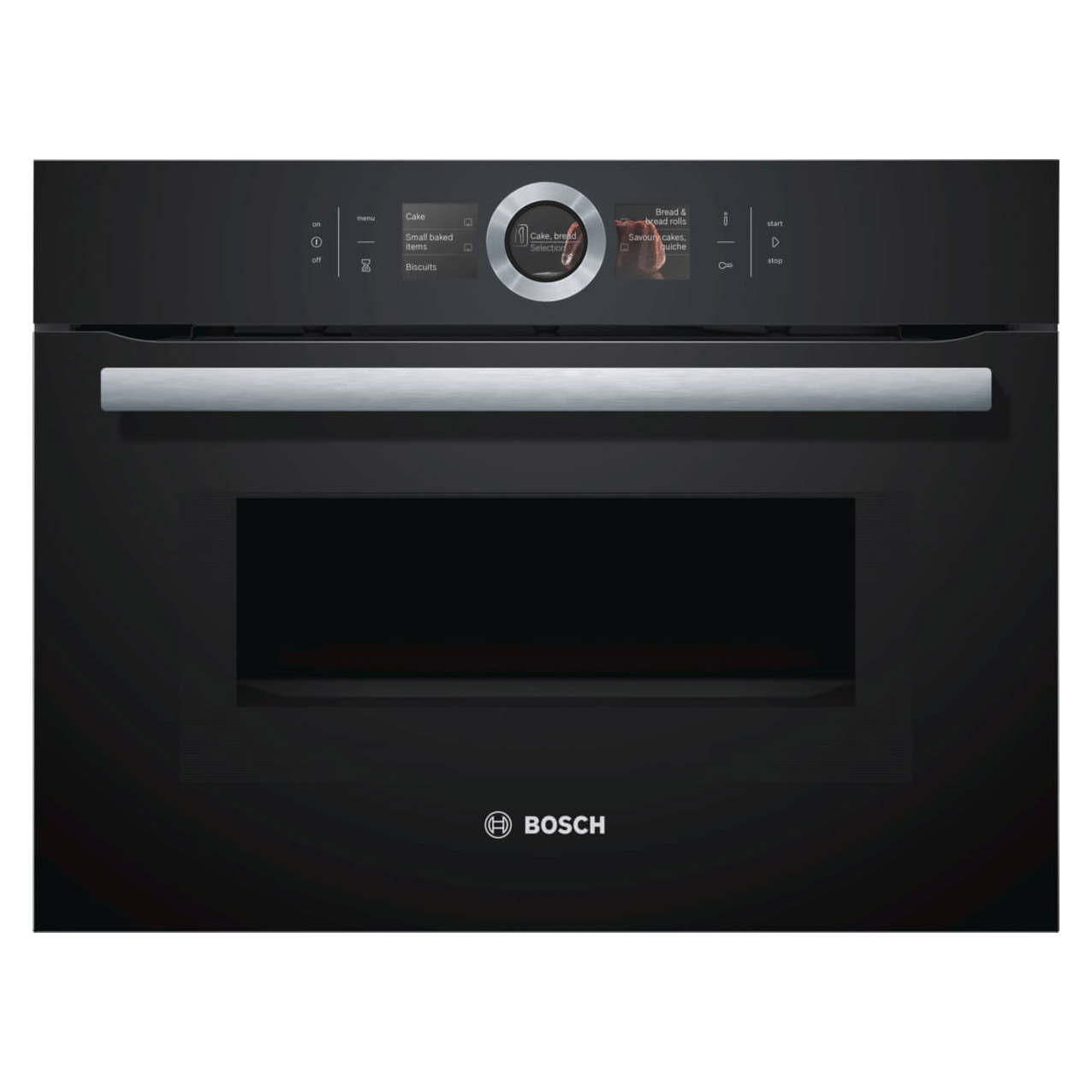 Bosch cmg656bb1b built in compact oven with microwave in black for Small built in microwave oven