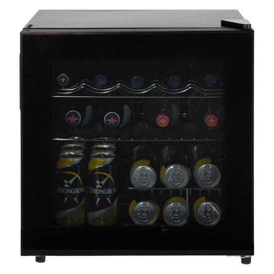 Lec Df50b Table Top Drinks Fridge Black Frame Tinted Glass Door