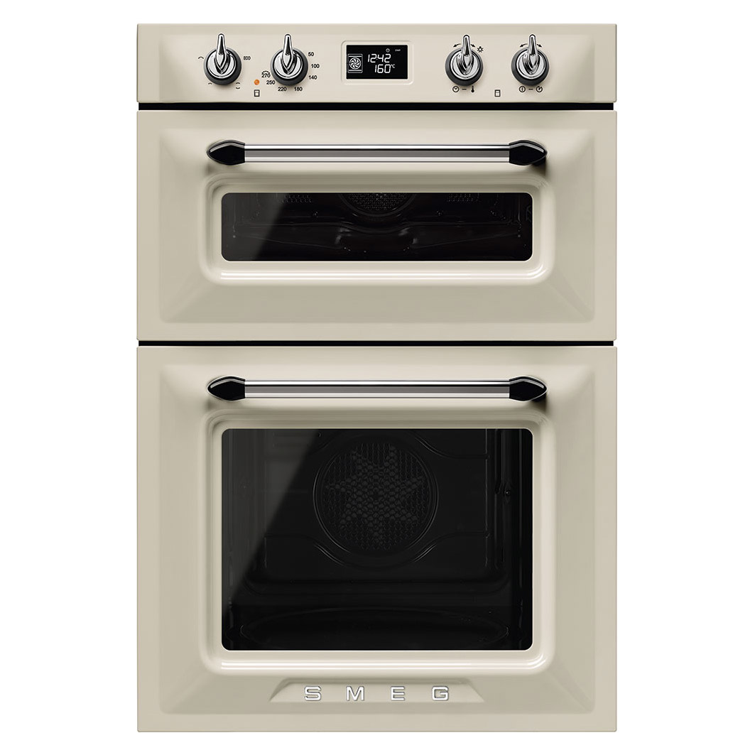 Smeg Dosf6920p1 60cm Victoria Built In Double Oven In Cream