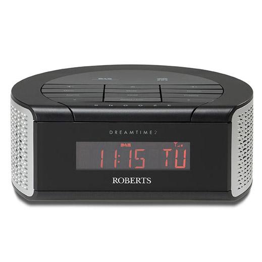 roberts dreamtime 2 clock radio with dab and dual alarm black. Black Bedroom Furniture Sets. Home Design Ideas
