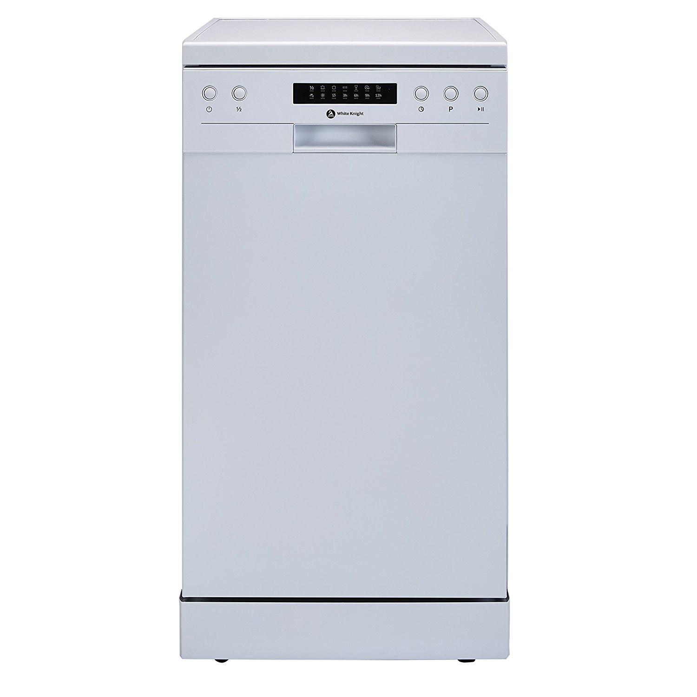White Knight DW1045WA 45cm Dishwasher in White, 10 Place Settings ...