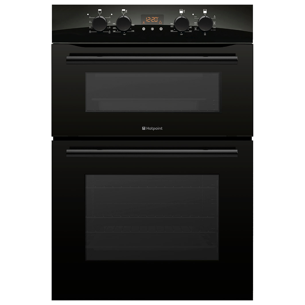 hotpoint dxb83k built in electric double oven in black. Black Bedroom Furniture Sets. Home Design Ideas