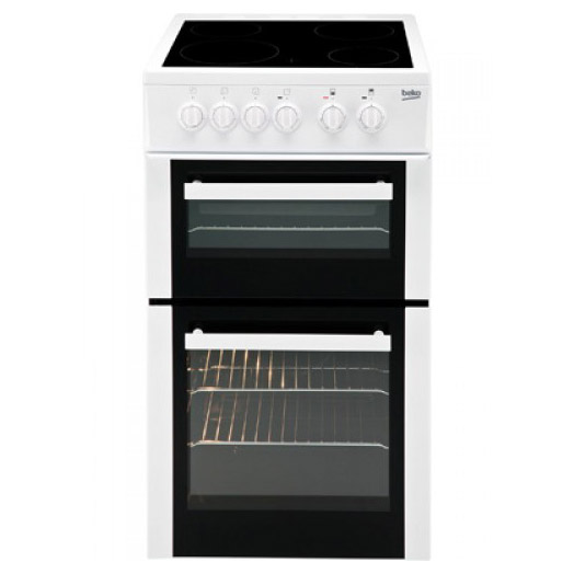 Beko Edvc503w 50cm Electric Cooker In White Double Oven