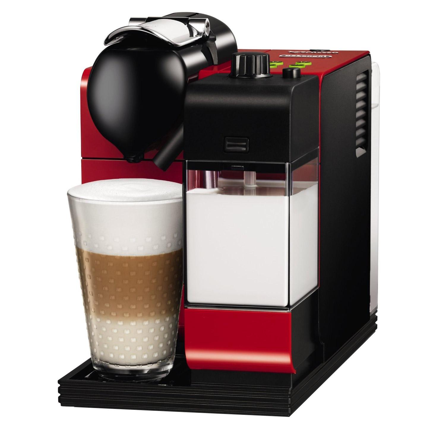 Nespresso Dual Coffee Maker : Delonghi EN550.R Nespresso Lattissima Plus Coffee Maker in Red
