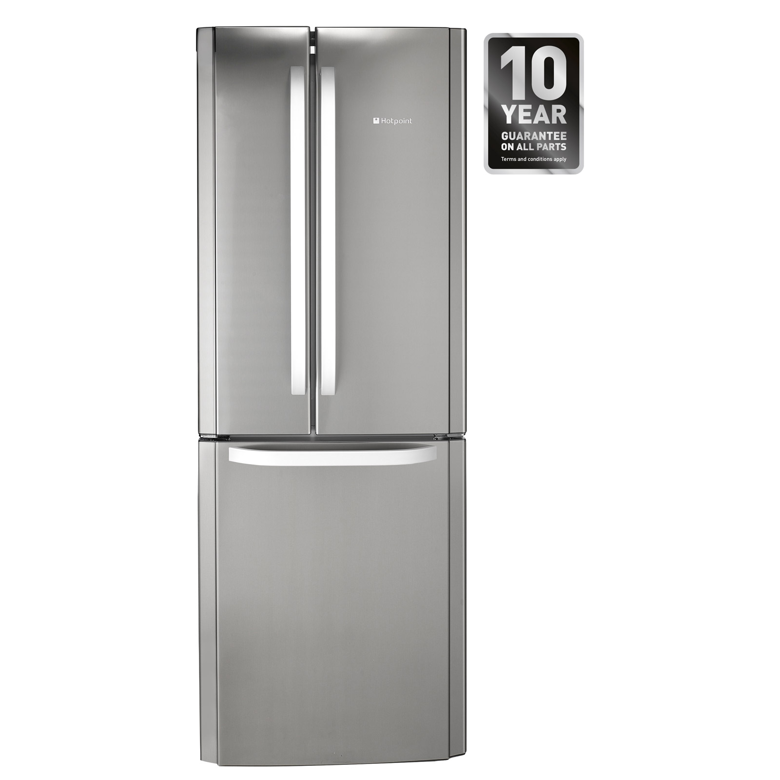 hotpoint ffu3dx 70cm 3 door frost free fridge freezer in st st 1 96m a rh sonicdirect co uk Whirlpool Corporation Haier Corporation
