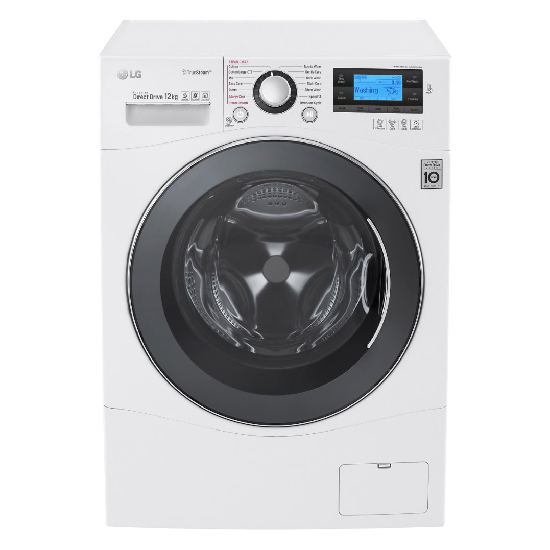 Lg fh495bds2 washing machine in white 1400rpm 12kg a rated biocorpaavc Images