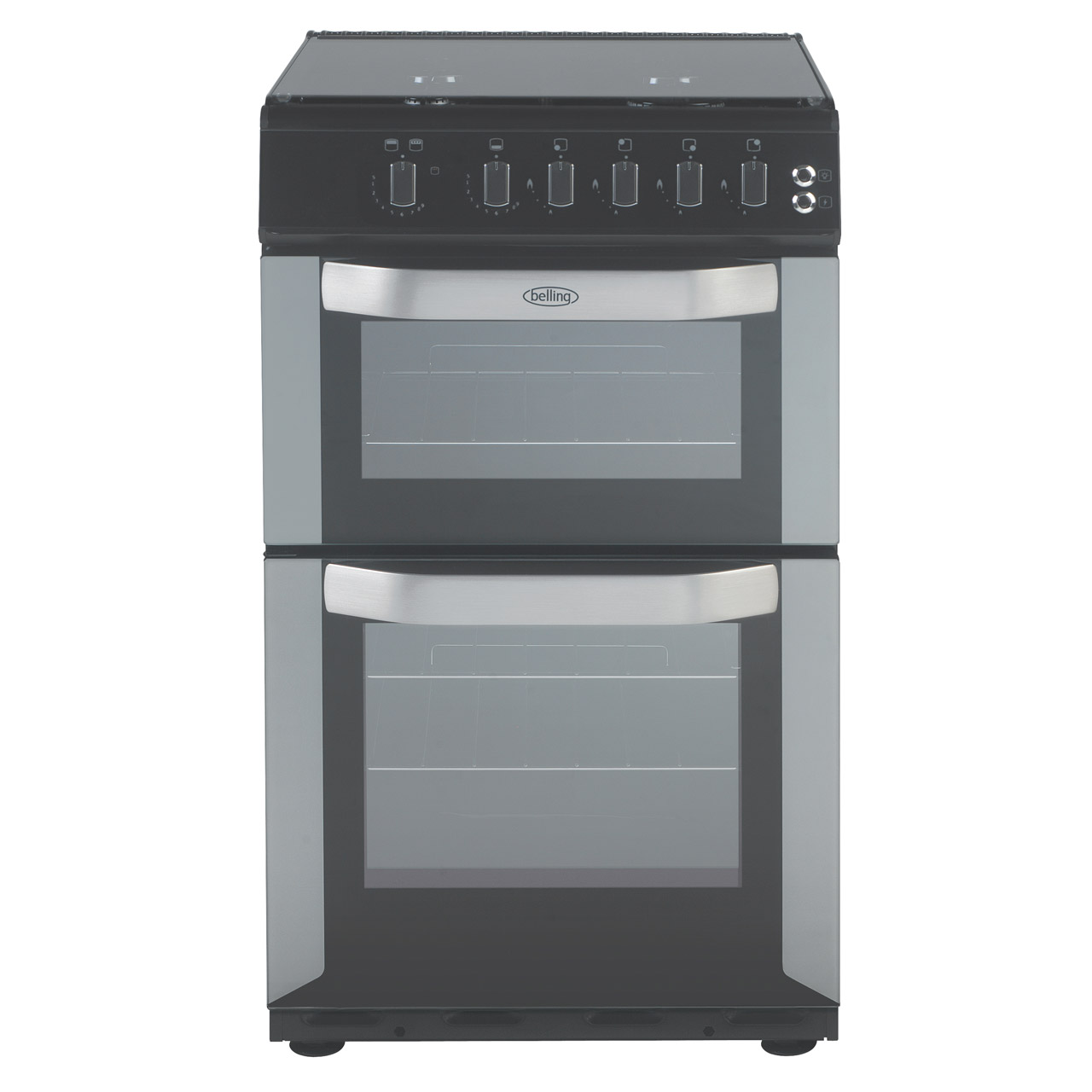 Belling Fsg50do Sil 50cm Gas Cooker In Silver Double Oven