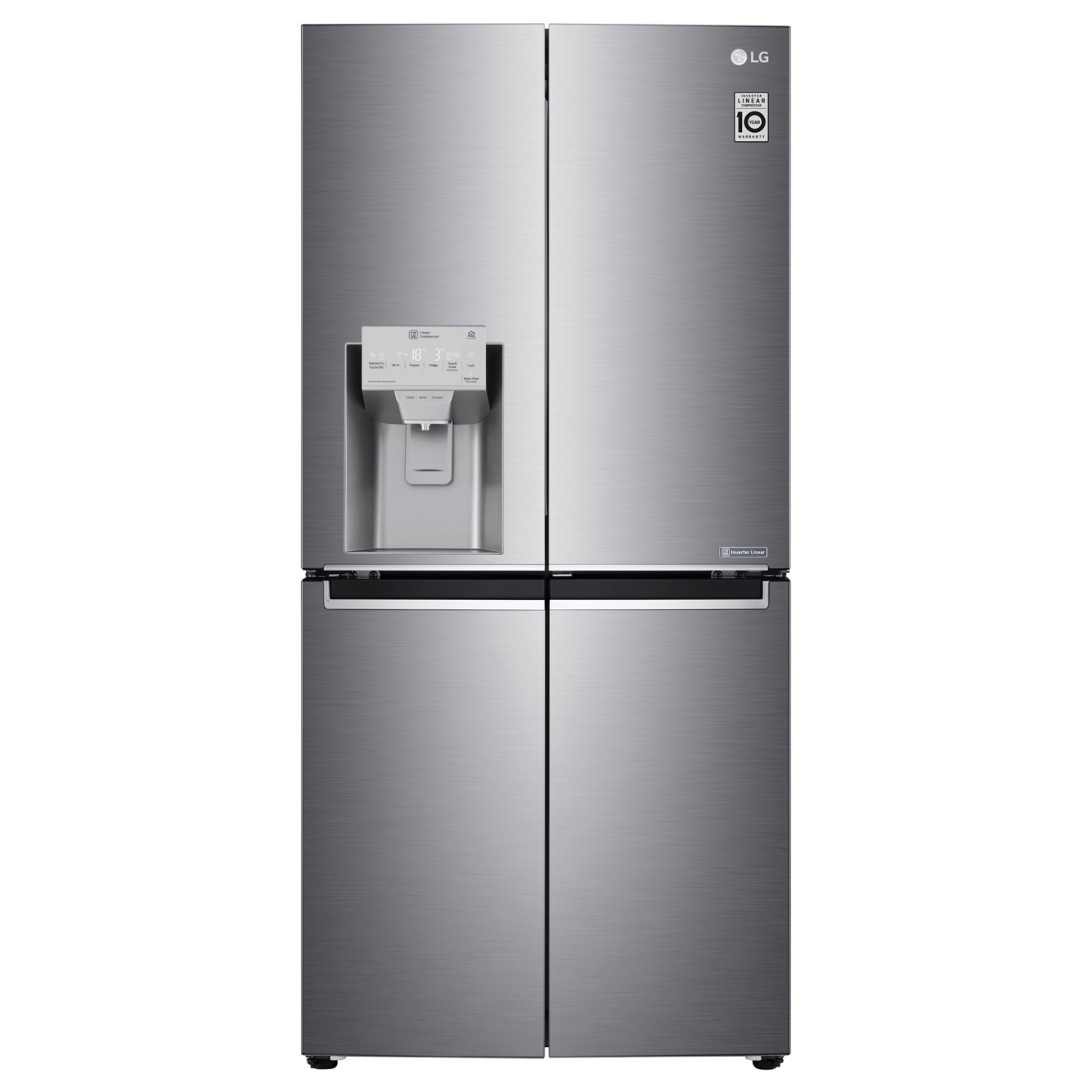 LG GMJ844PZKV InstaView 4 Door Fridge Freezer in St/St, Ice/Water, PL