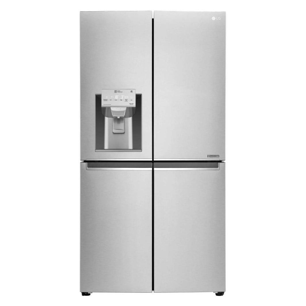 Lg Gml936nshv 4 Door Fridge Freezer In Premium Steel Ice