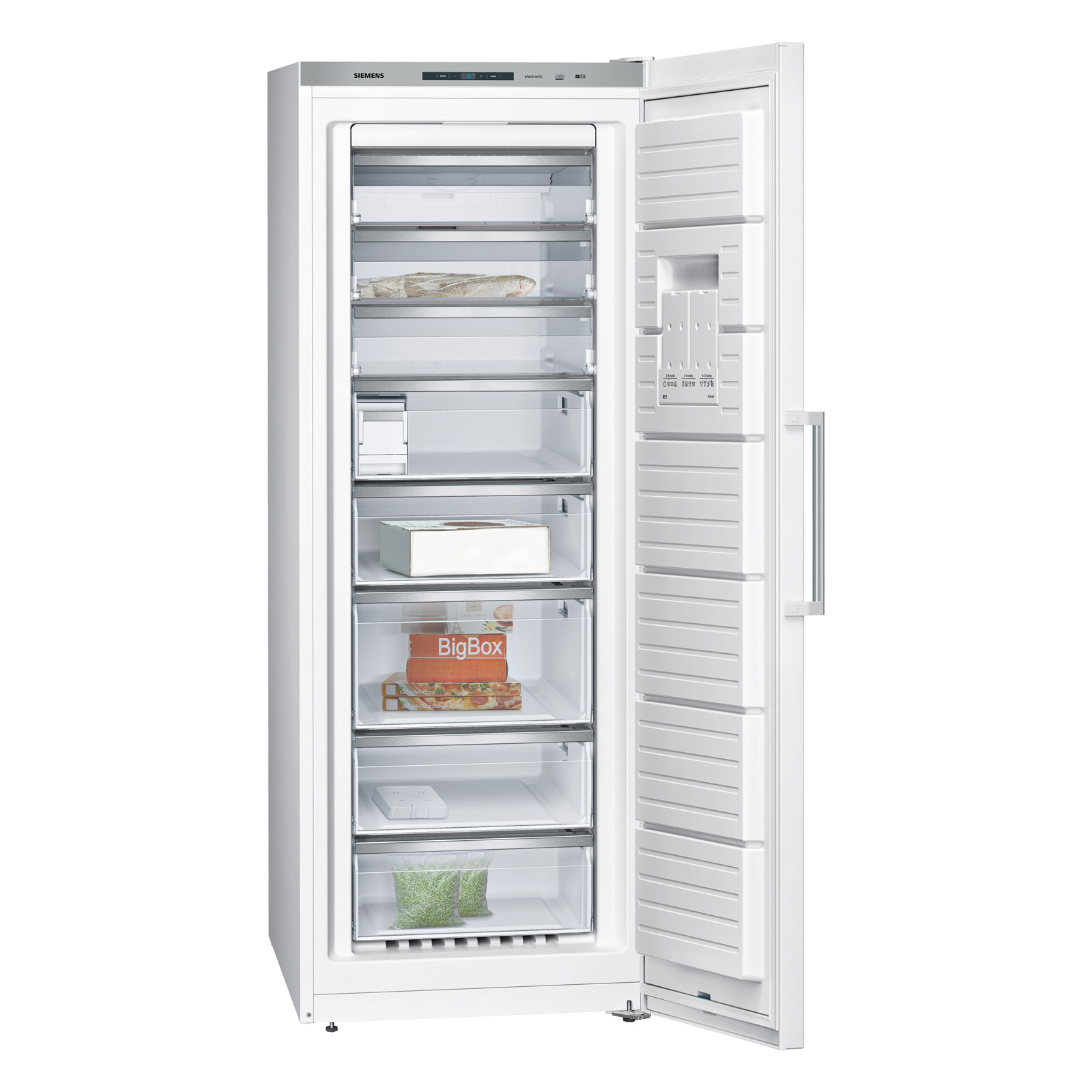 siemens gs58naw41 nofrost upright freezer in white a rated
