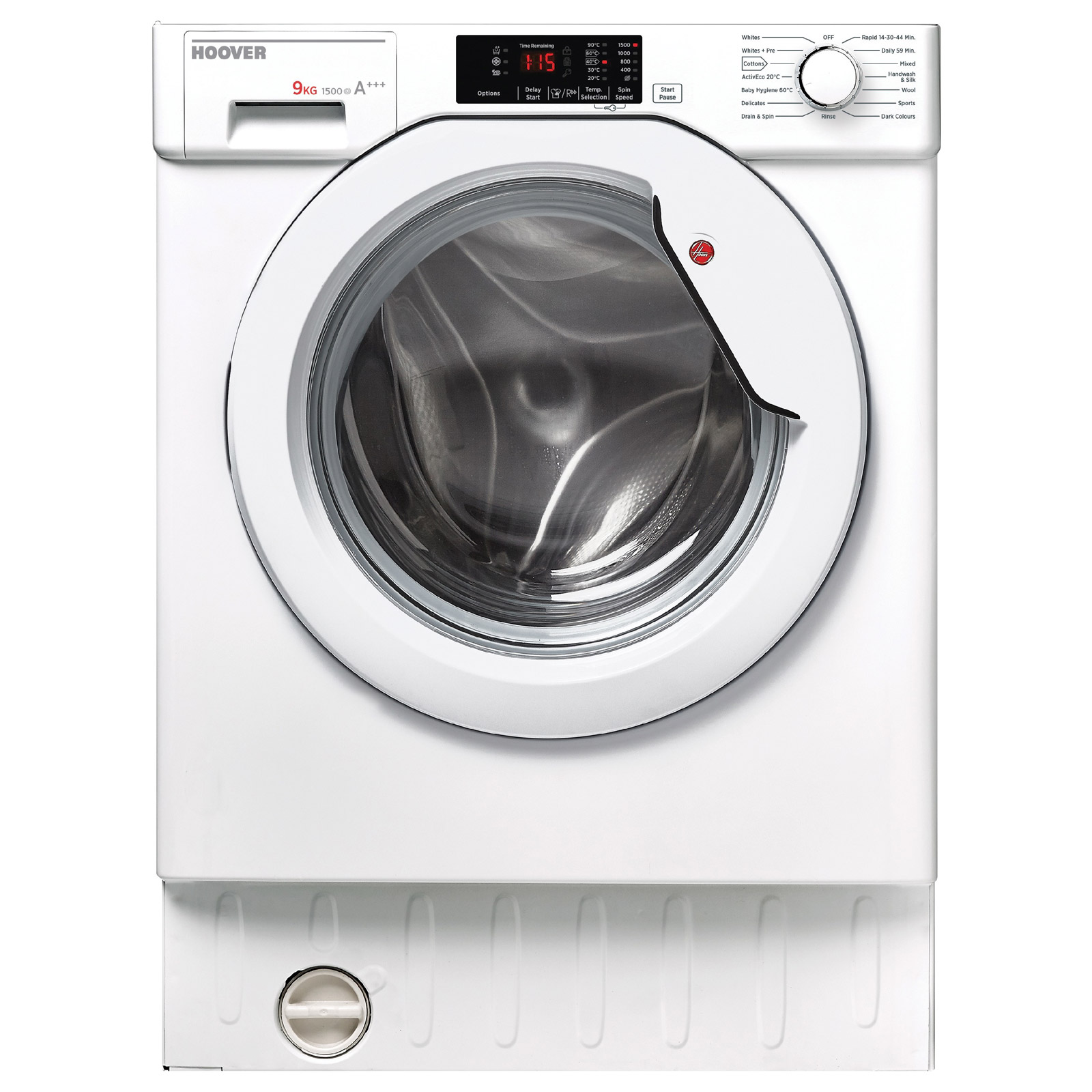 Hoover HBWM915D80 Fully Integrated Washing Machine, 1500rpm 9kg A+++