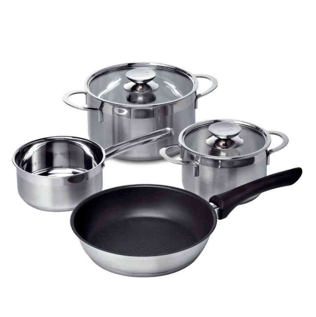 bosch hez390042 four piece induction hob pan set in. Black Bedroom Furniture Sets. Home Design Ideas