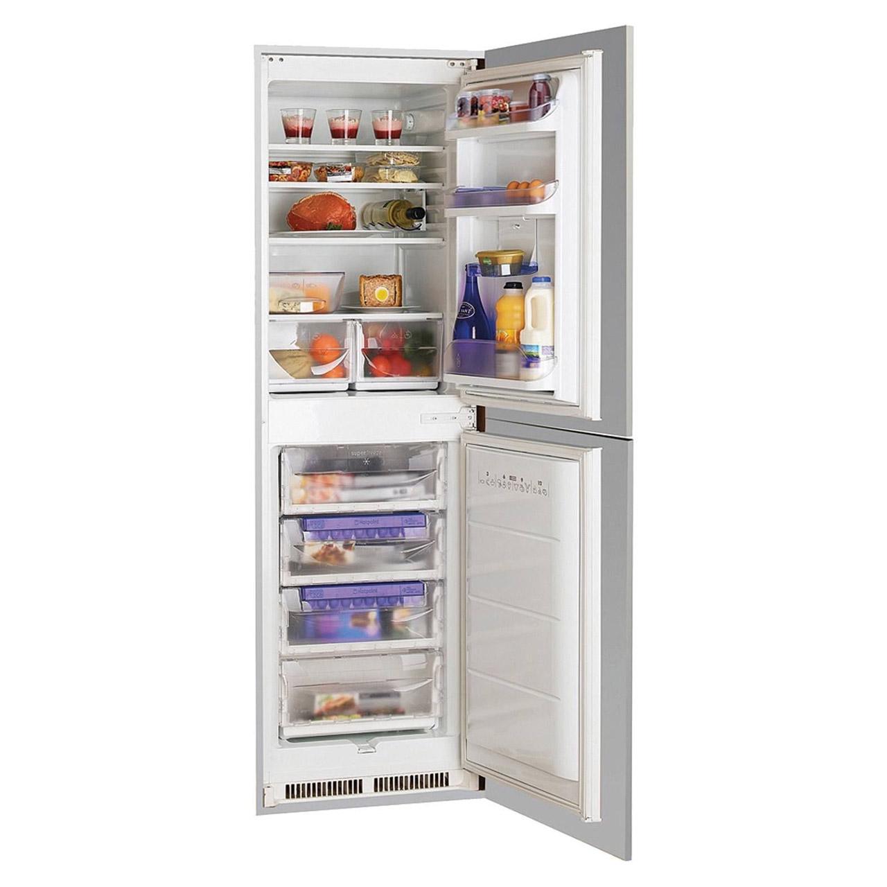 Hotpoint hrf3114uk integrated fridge freezer 50 50 static - Integrated freezer ...