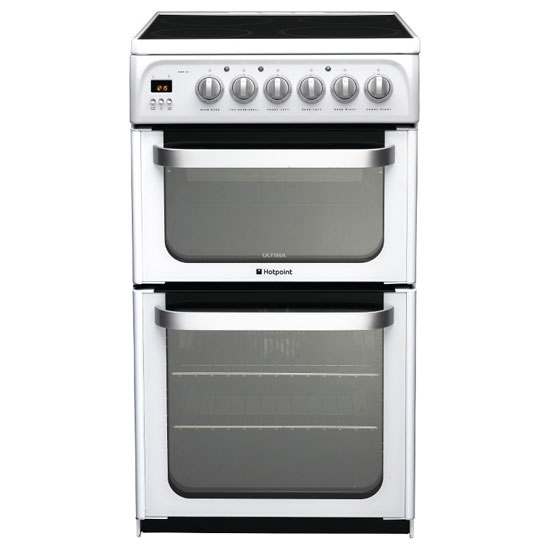 Hotpoint Hue52ps 50cm Ultima Electric Cooker In White D