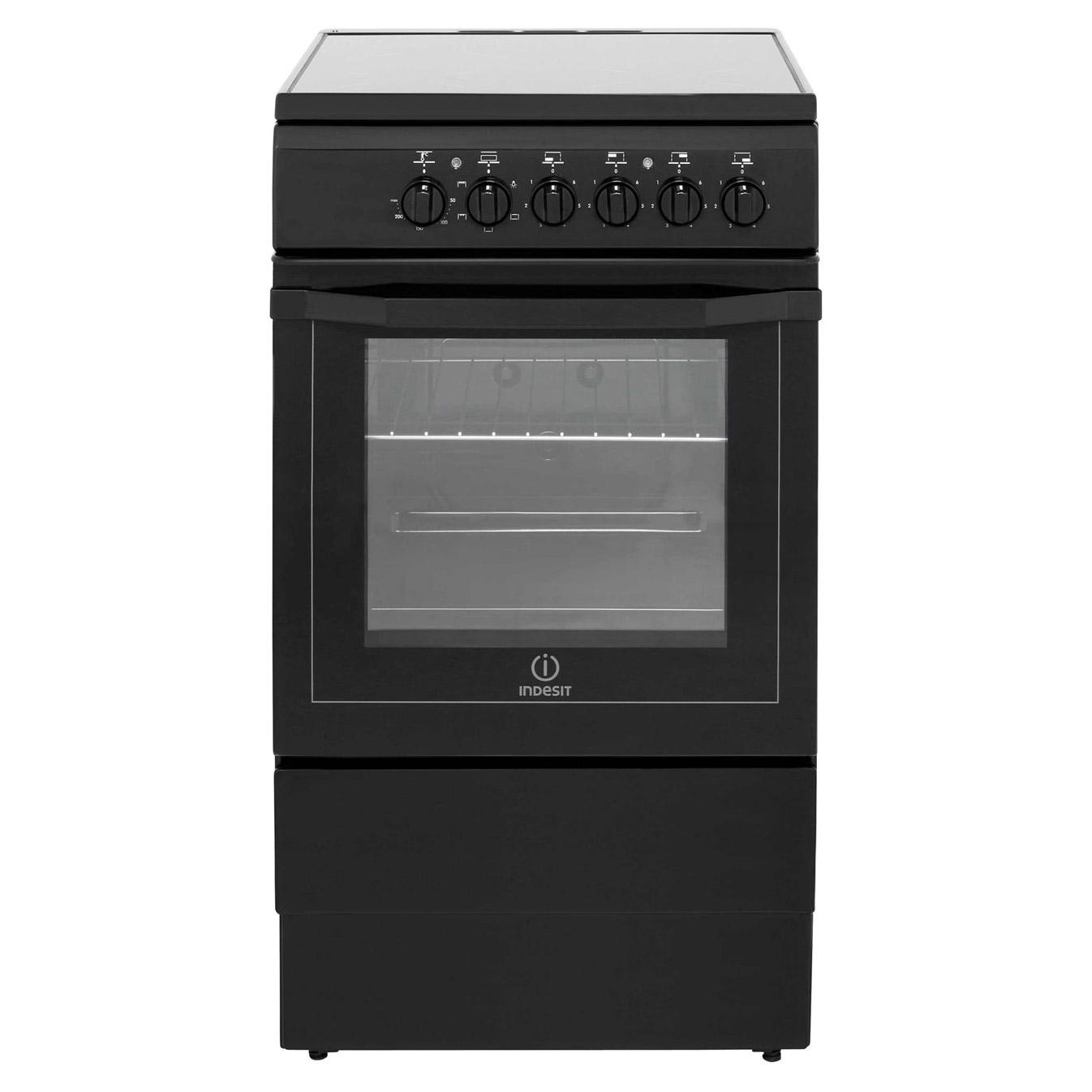 indesit i5vshk 50cm single oven electric cooker in black ceramic hob rh sonicdirect co uk belling format oven timer instructions belling format cooker parts