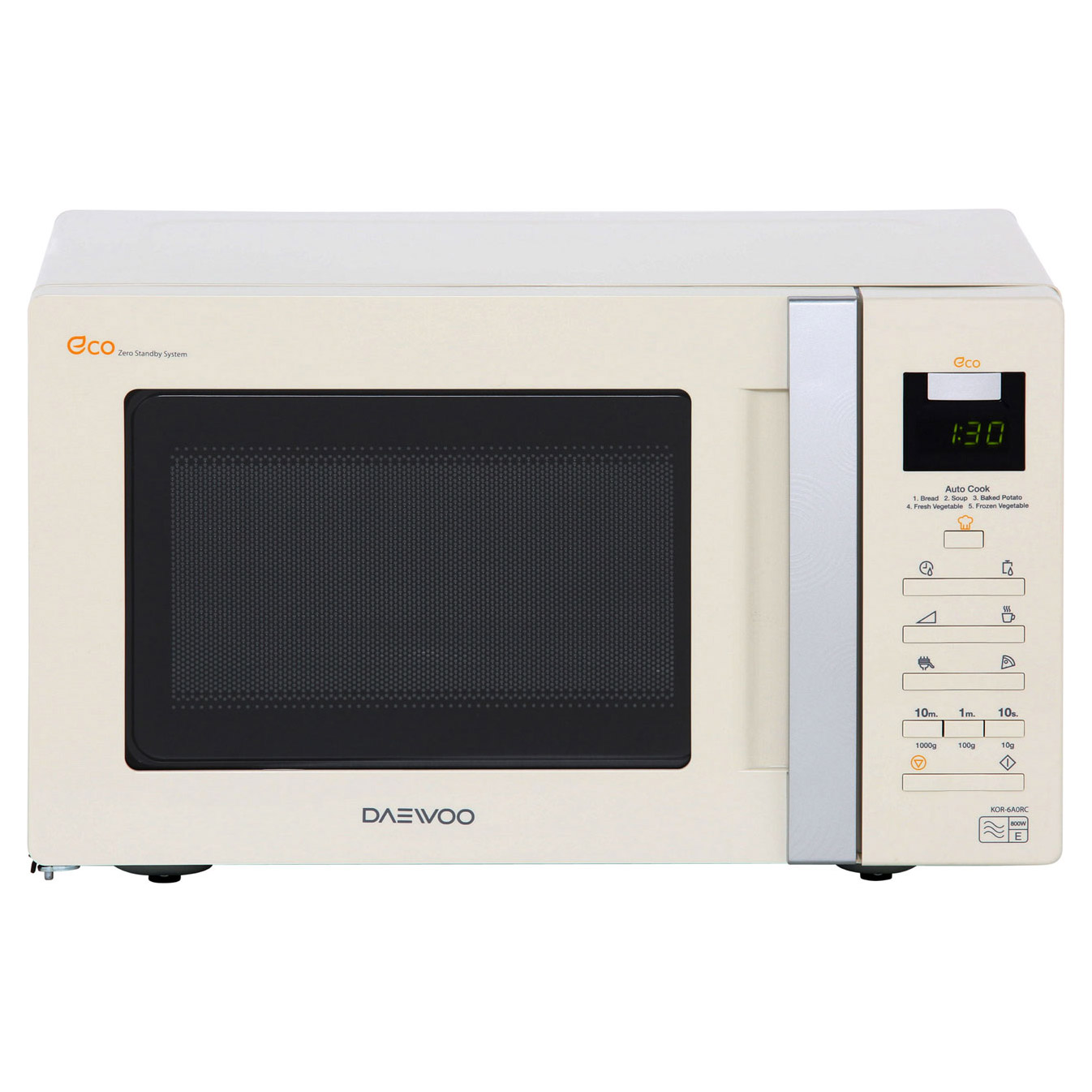 Daewoo KOR6A0RC Microwave Oven in Cream, 20L 800W Touch Controls