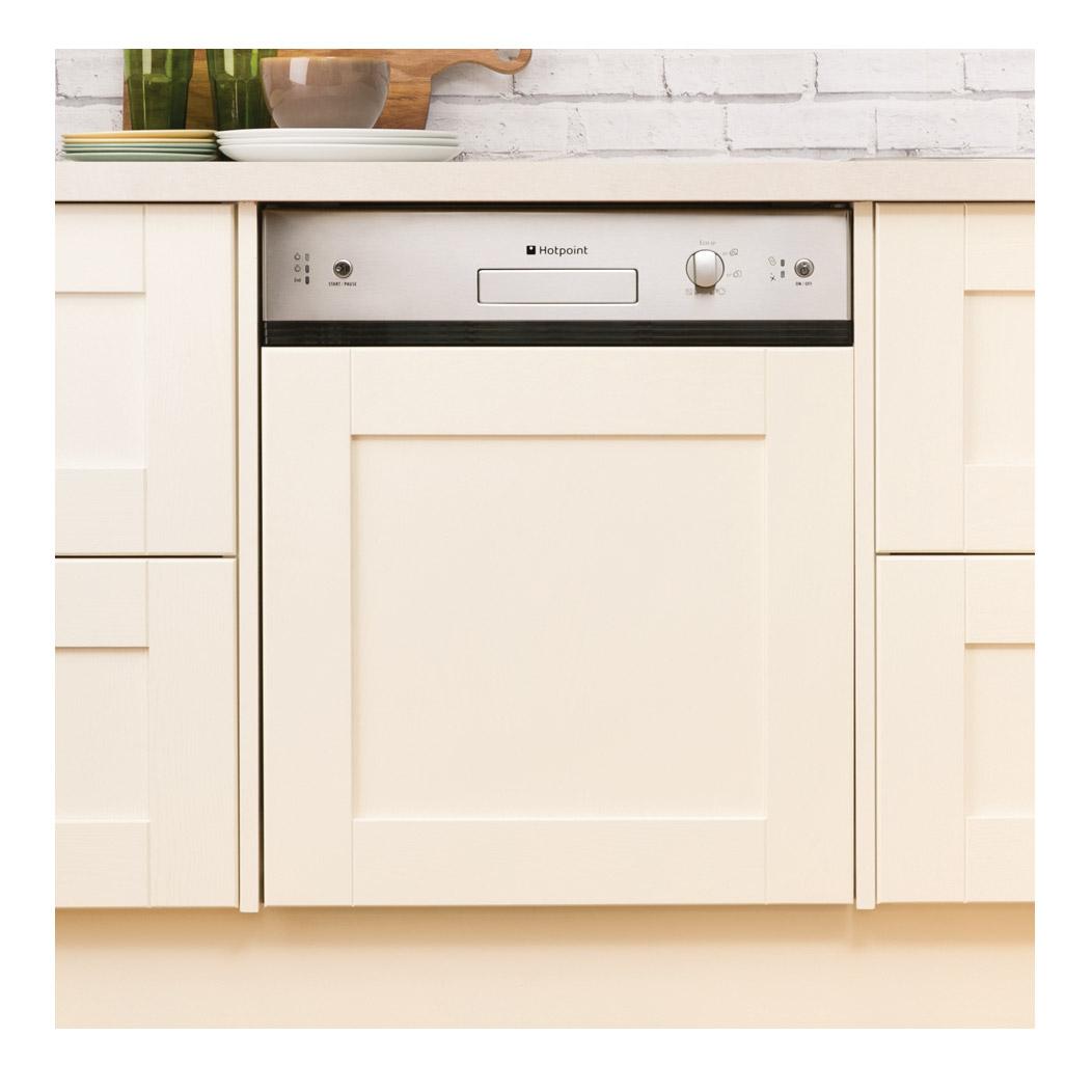 Stainless Steel Bosch Dishwasher Hotpoint LSB5B019X 60cm Semi-Integrated Dishwasher in St ...