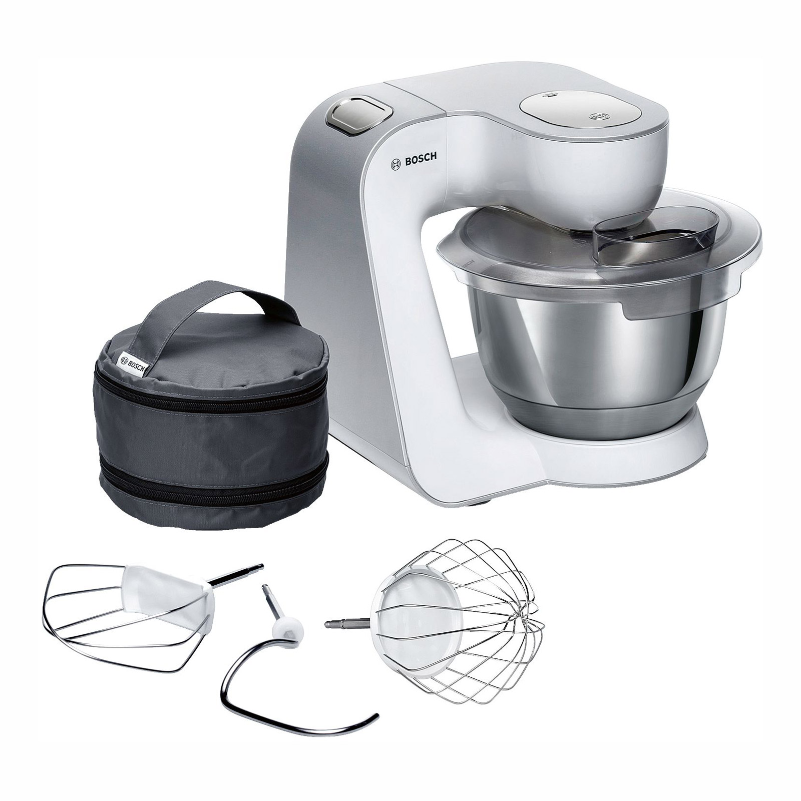 Bosch Mum58200gb Creationline Kitchen Machine In White 1000w
