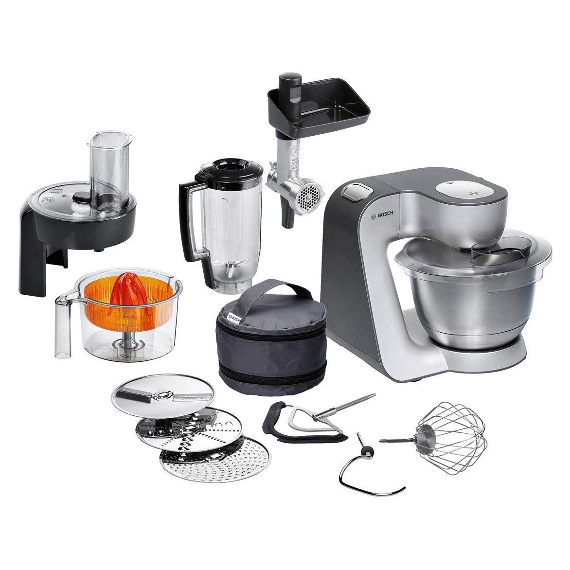 Bosch Mum59340gb Home Kitchen Machine Food Mixer In Silver 1000w