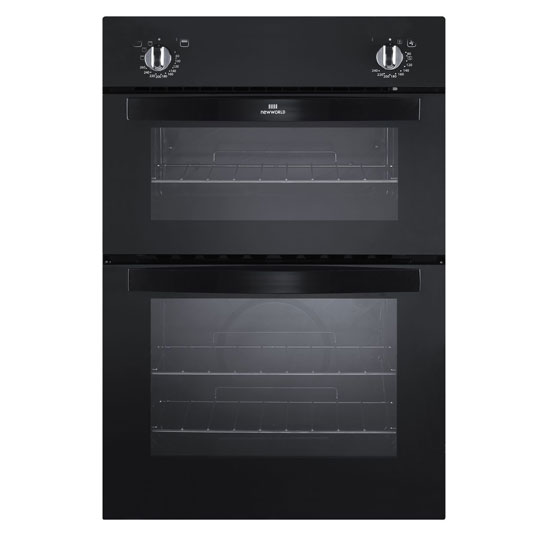 New World 444441488 Built In Electric Double Oven In Black