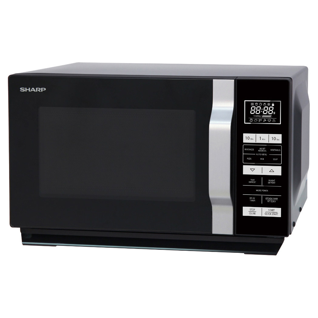 Sharp R360km Microwave Oven In Black 23l 900w Touch Control
