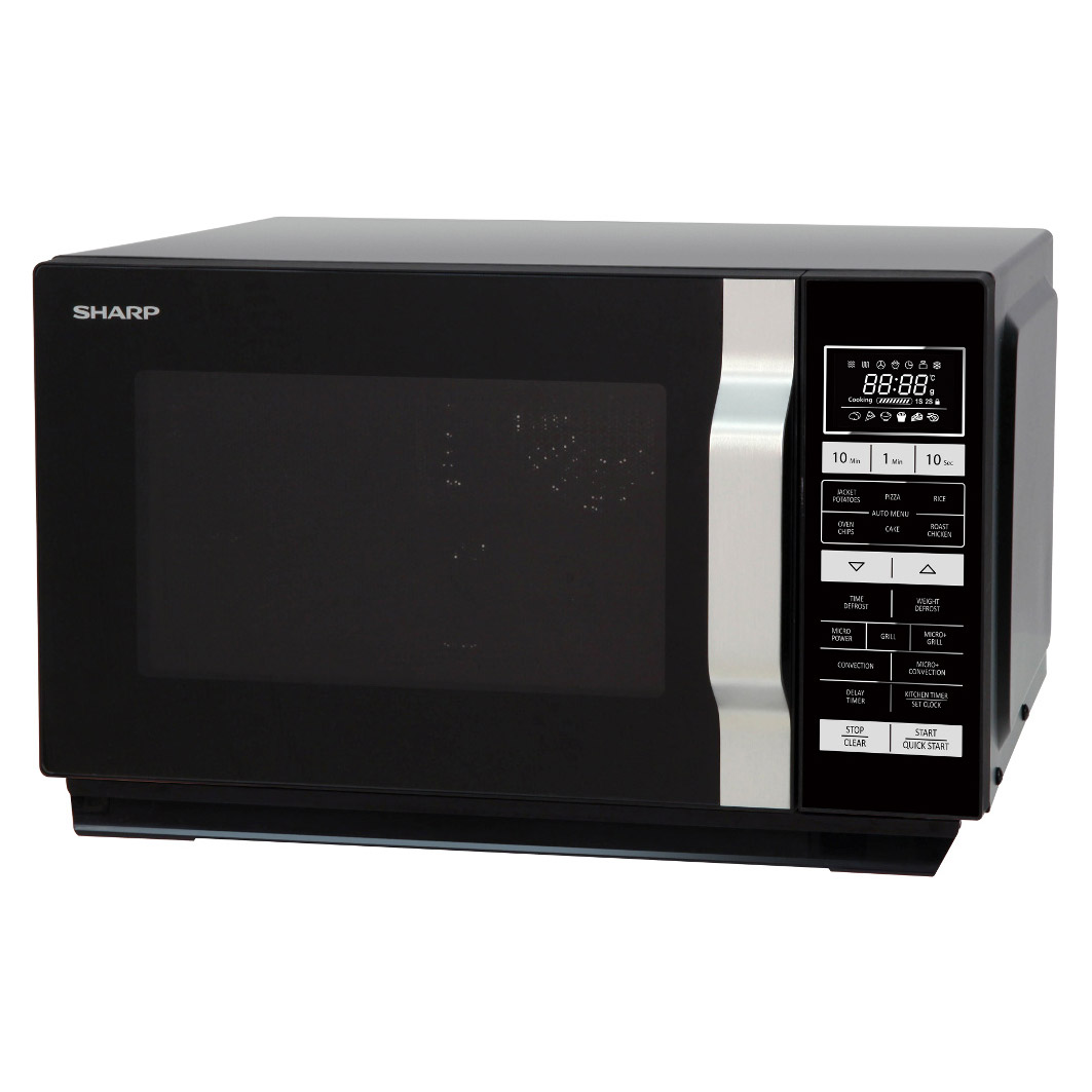 Sharp R860km Combination Microwave Oven In Black 25l 900w
