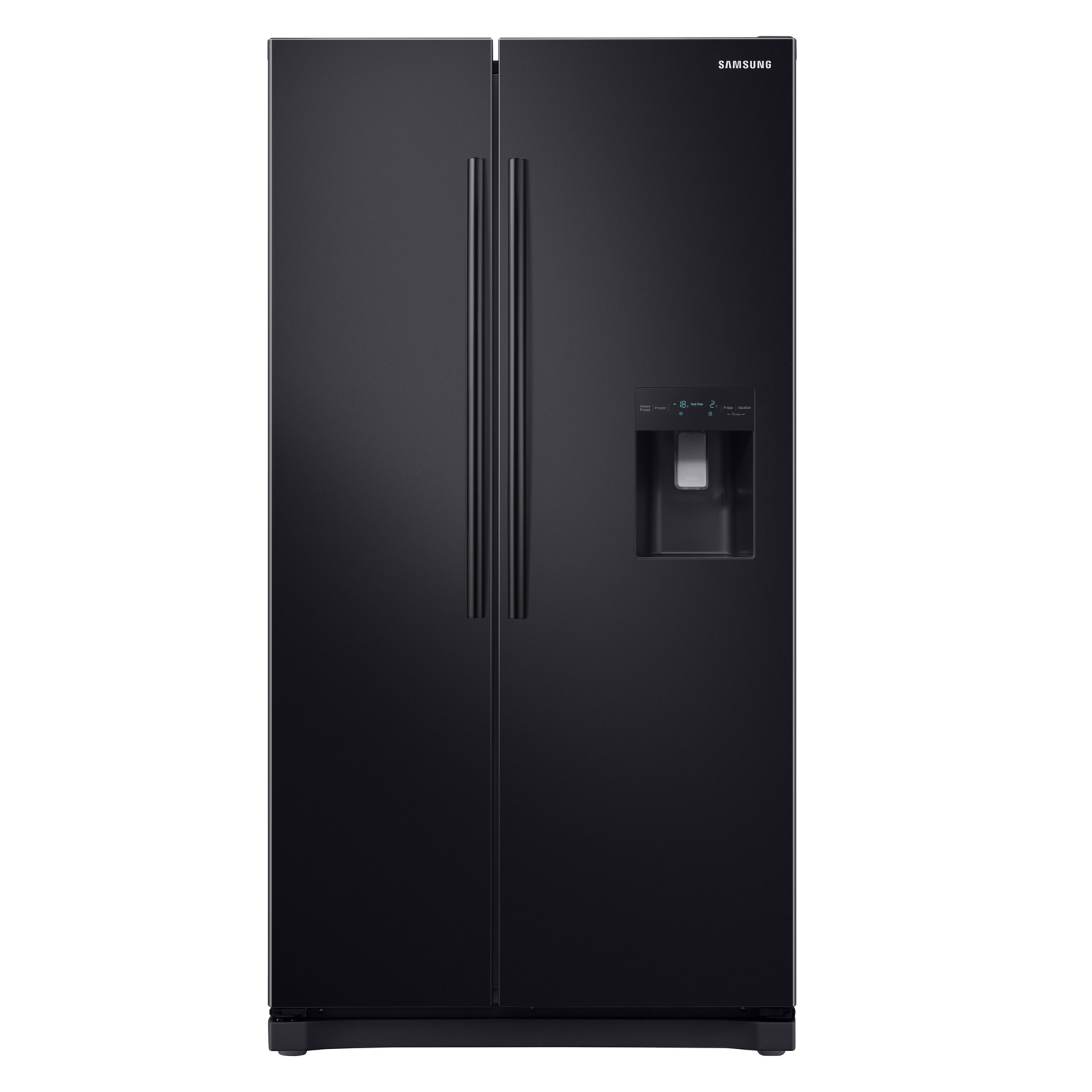 72870e21268c Samsung RS52N3213BC American Fridge Freezer in Black, Water NoFrost A+