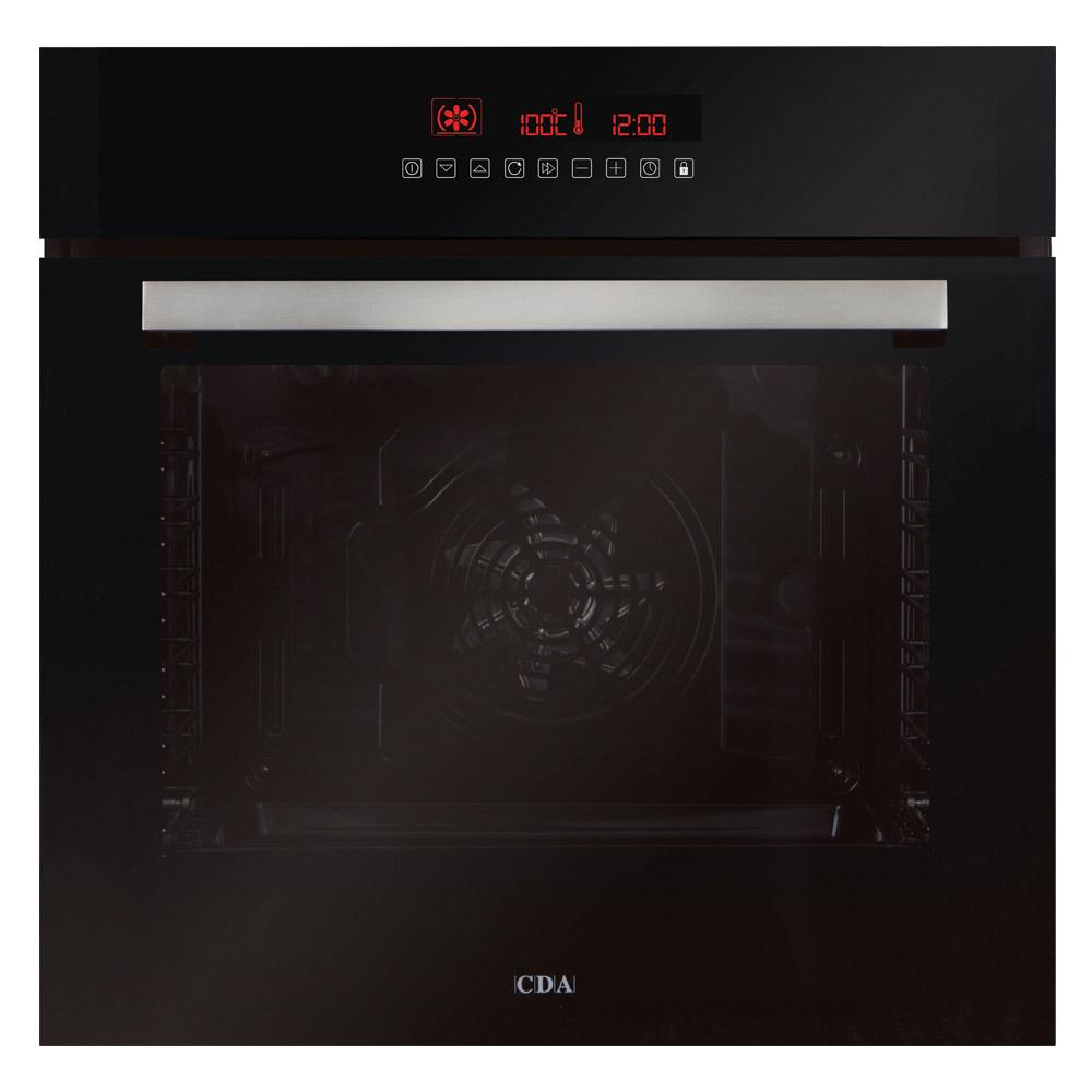 CDA SK510BL 60cm Built-In Pyrolytic Electric Fan Oven in Black