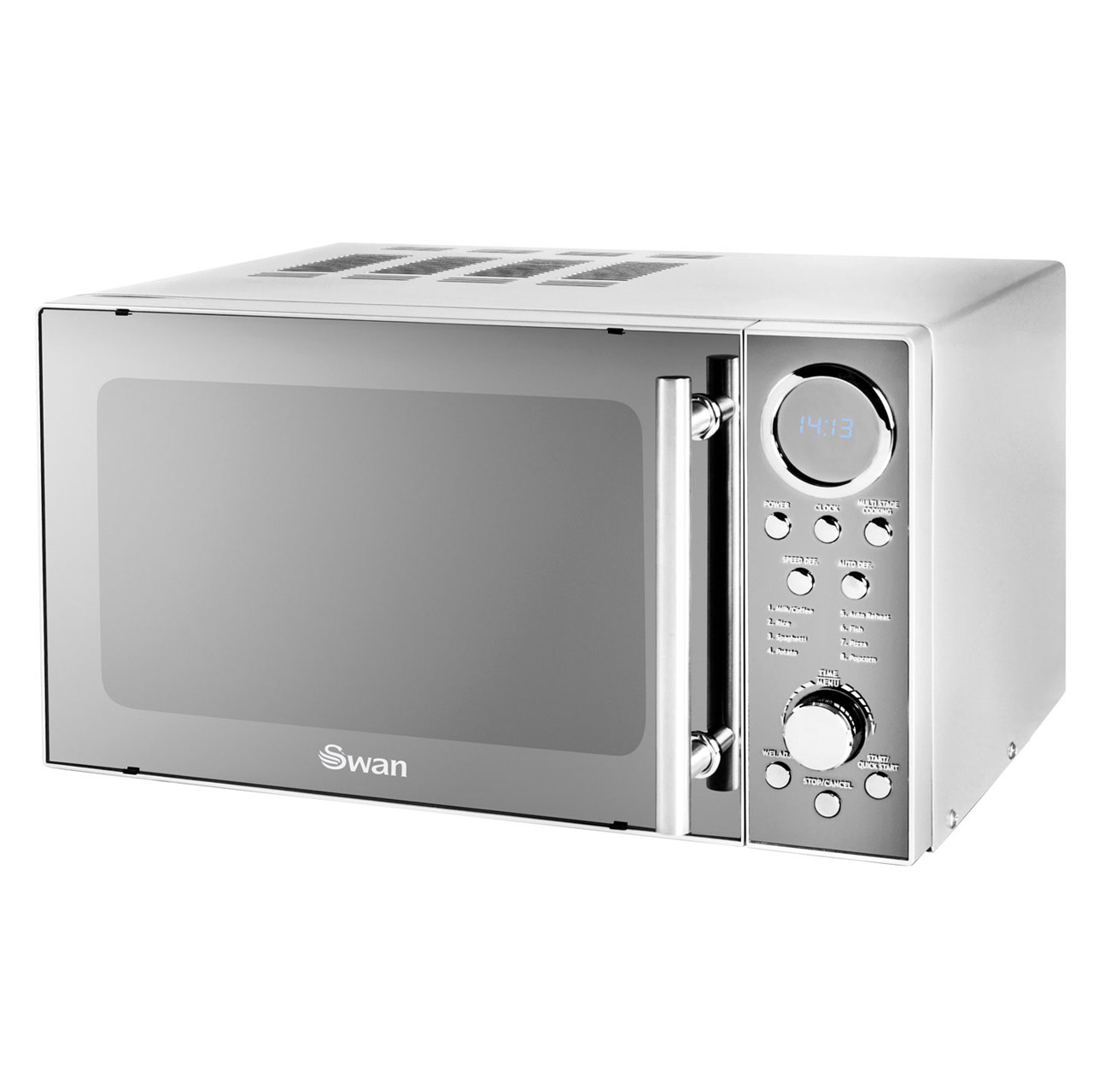 Swan SM3080N Compact Microwave Oven In Silver