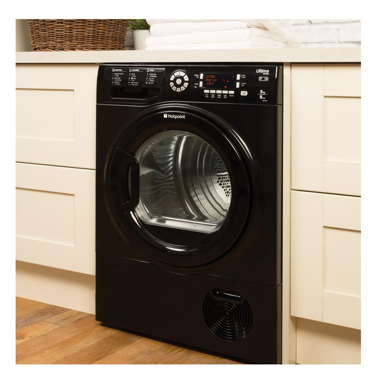 Lg Tumble Dryer Black ~ Hotpoint sutcd b km kg ultima condenser tumble dryer in