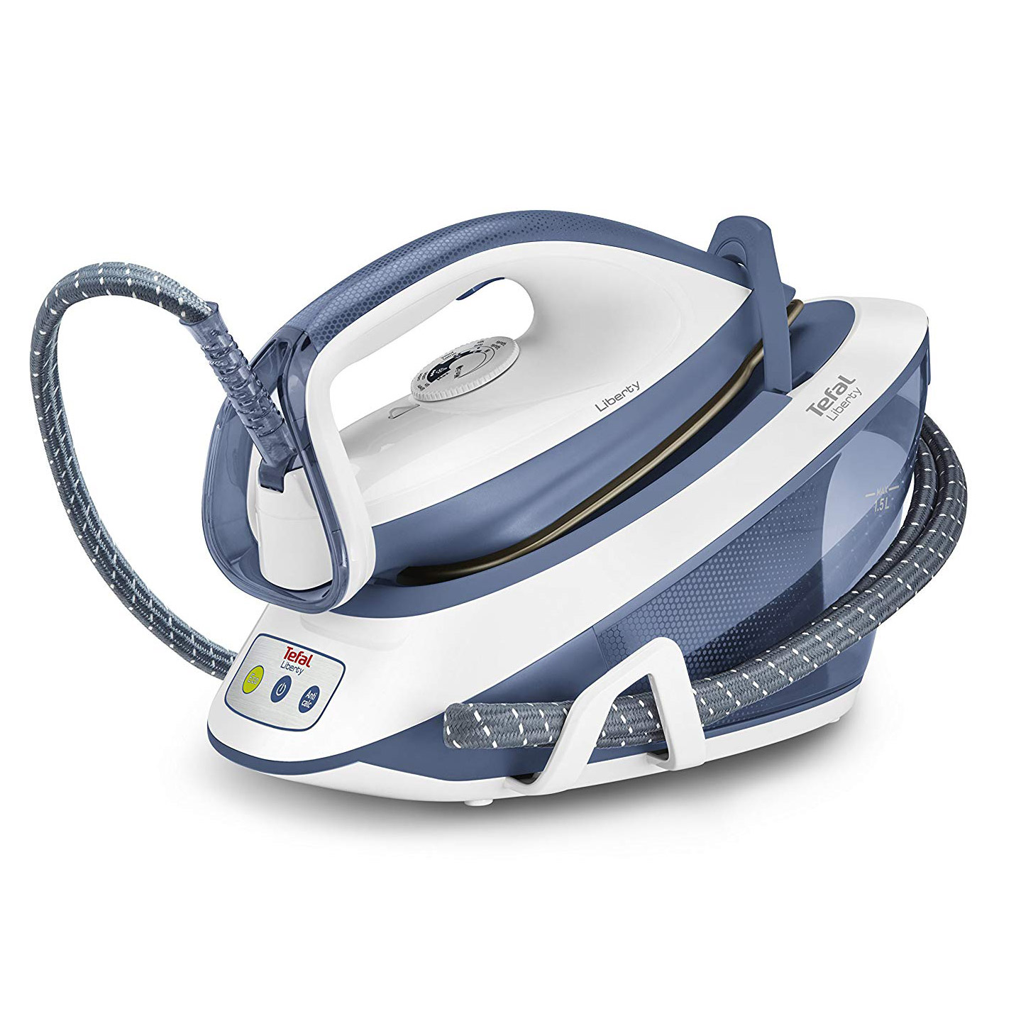Tefal SV7020 Liberty Steam Generator Iron in Blue, 2200W 5 4 Bar